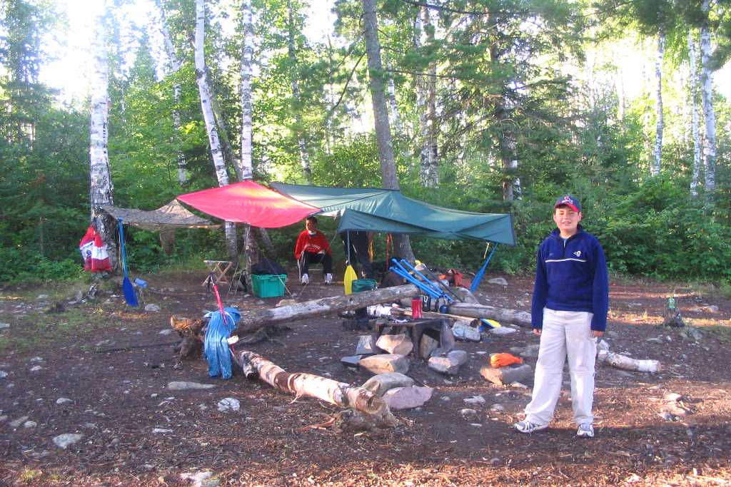 Campsite on Knife Lake