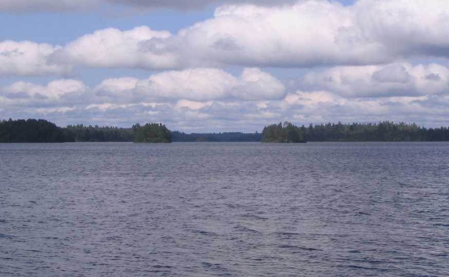 Twin Islands on Knife Lake