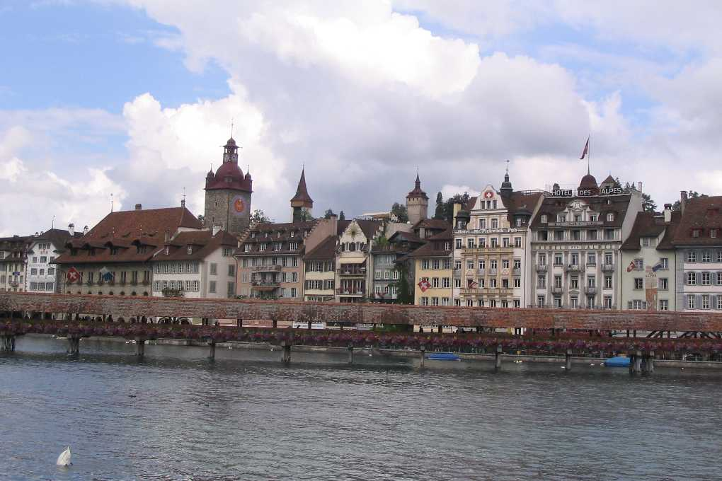 Kapellbrücke in Lucerne Switzerland