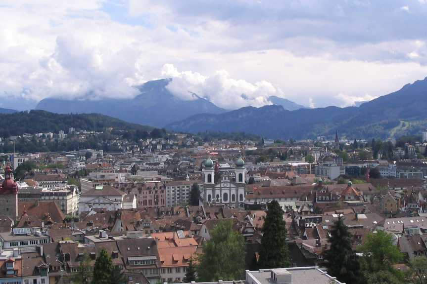 Panoramic view of Lucerne, Switzerland