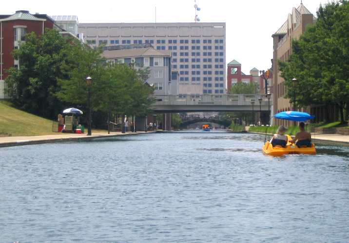 paddleboat on White River Canal